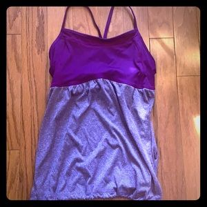 Yoga/workout tank with built in bra